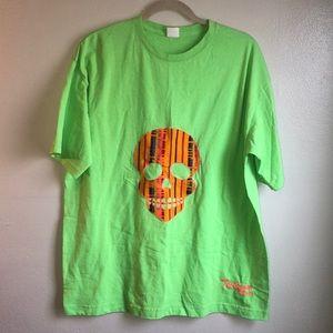 Other - Neon Green Skull Tee Shirt